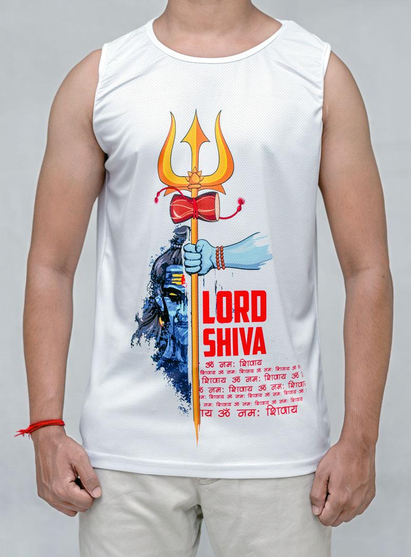 Lord Shiva -White Tank Top - Debardeur