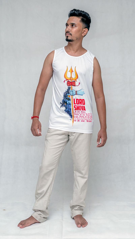 Lord Shiva White Debardeur